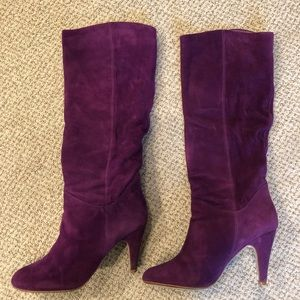 Aldo Tamisha Purple Suede Boots